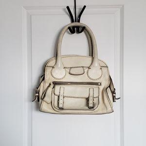CHLOE Cream Edith Satchel Purse Bag